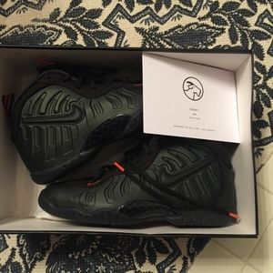 nike little posite pro foamposite sequoia